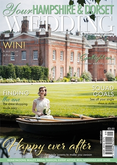 Cover of the September/October 2021 issue of Your Hampshire & Dorset Wedding magazine