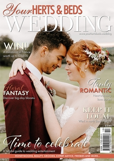Cover of the October/November 2021 issue of Your Herts & Beds Wedding magazine