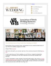 Your North West Wedding magazine - March 2021 newsletter