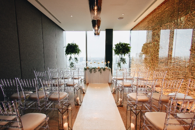 Ceremony room at Manchester venue 20 Stories