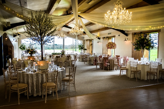 Inside shot of the reception suite at Hyde Bank Farm
