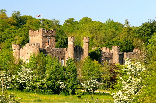 Panoramic view of Augill Castle