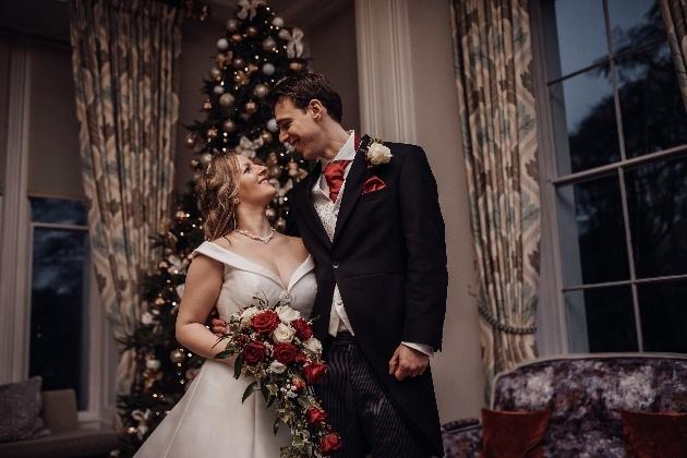 Couple and christmas tree