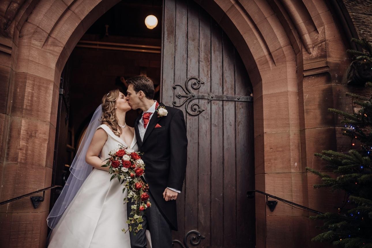 Kissing at the church