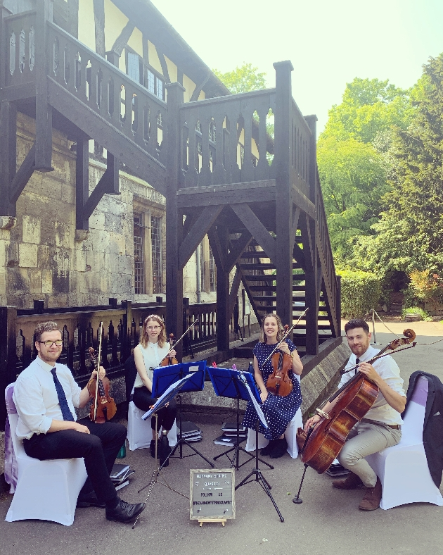 Harmony String Quartet is offering a jukebox service at weddings